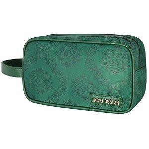 Necessaire estojo duplo Essencial Grande Verde Jacki Design