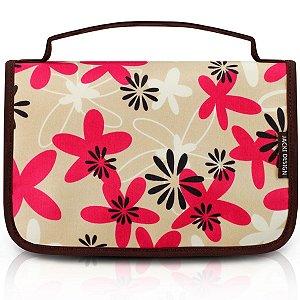 Necessaire de Viagem floral marrom miss douce Jacki Design