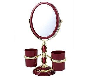 Espelho de bancada suportes laterais Jacki Design Vermelho