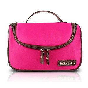Necessaire de Viagem rosa pink Jacki Design