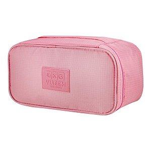 Porta Lingerie necessaire rosa claro Jacki Design