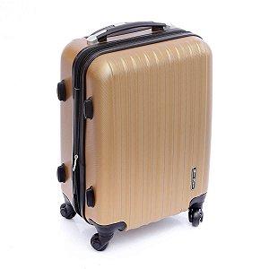 Mala de Viagem pequena expansiva ABS com rodas 360° dourado