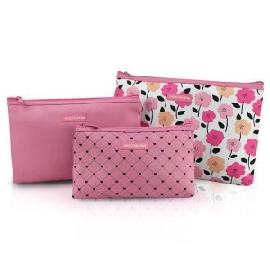 Kit Necessaire com 3 peças Jacki Design Pink Lover Rosa
