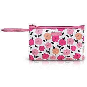 Necessaire com alça Jacki Design Pink Lover Rosa Floral