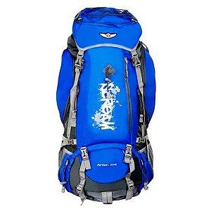Mochila Cargueira Batiki 80 litros para camping  azul