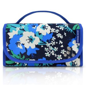 Necessaire Rocambole Estampada floral azul Jack Design