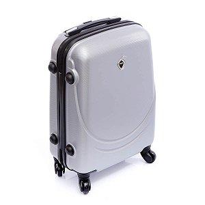 Mala de Viagem pequena prata em  ABS rodas 360° Jean Pierre