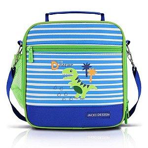 Lancheira Térmica Escolar dinossauro azul Jacki Design