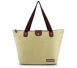 Bolsa Dobrável Lisa Bege essencial Jacki Design abc16065