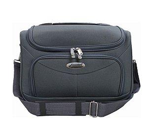 Bolsa de viagem unisex F14 cinza com alça carona Cruzeiro