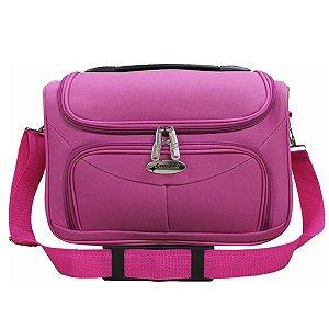 Bolsa de viagem unisex F14 rosa com alça carona Cruzeiro