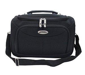 Bolsa de viagem unisex F14 preto com alça carona Cruzeiro