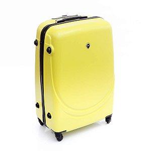 Mala grande de Viagem amarelo ABS rodas 360° Jean Pierre