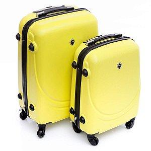 Mala pequena e média de Viagem amarelo abs 360° Jean Pierre
