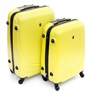 Mala grande e média de Viagem amarelo abs 360° Jean Pierre
