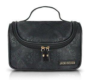 Necessaire de viagem com Gancho preto essencial Jack Design