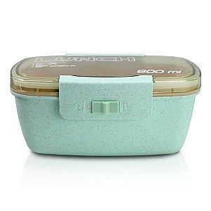 Marmita ecológica de 800 ml com divisória Jacki Design Verde