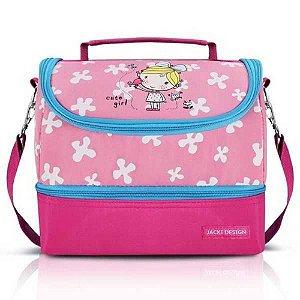 Lancheira Térmica Infantil Pink Jacki Design