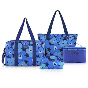Conjunto de viagem 4 peças Jacki Design Papoula Azul
