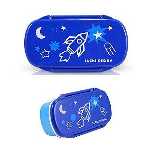 Pote para Lanche Sapeka Jacki Design Foguete Azul Escuro