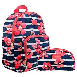 kit mochila com necessaire meia lua - Bossanova J.D