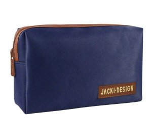 Necessaire masculina retangular Jacki Design Azul e Marrom