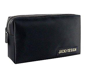 Necessaire masculina retangular Jacki Design Preta