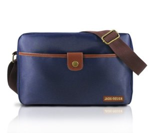 Bolsa transversal masculina Jacki Design Azul e Marrom