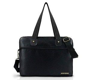 Bolsa de trabalho carteiro masculina preta Jacki Design