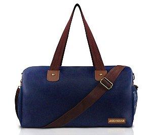 Bolsa de viagem masculina Jacki Design Azul  e Marrom