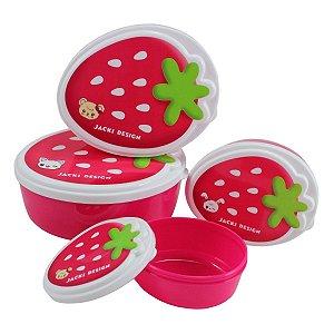 Potes para Lanche 4 peças Jacki Design Pink