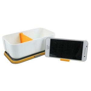 Marmita 800 ml com Porta Celular Jacki Design Laranja