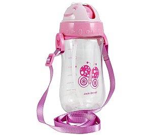 Garrafa Squeeze Pequeninos 480ml Jacki Design Borboleta Rosa