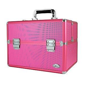 Maleta Profissional Maquiagem Grande Boca Rosa Jacki Design