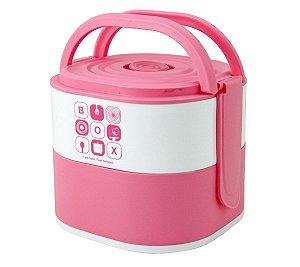 Marmita Com 2 Compartimentos 1690ml Pink Jacki Design