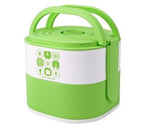 Marmita Com 2 Compartimentos 1690ml Verde Jacki Design