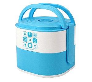 Marmita Com 2 Compartimentos 1690ml Azul Jacki Design