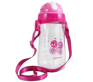 Garrafa Squeeze Pequininos 480ml Jacki Design Borboleta Pink