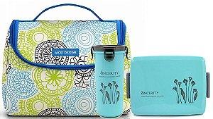 Bolsa De Mão Térmica Com Kit Marmita-copo Jacki Design azul