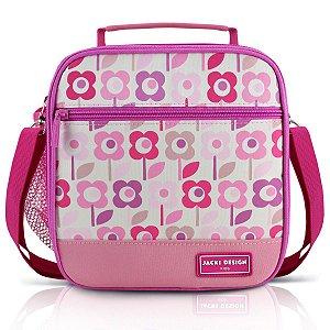 Lancheira Térmica Infantil Jacki Design Flor Rosa Sapeka