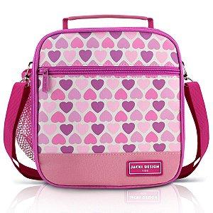 Lancheira Térmica Infantil Jacki Design Coração Rosa Sapeka