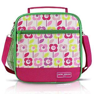 Lancheira Térmica Infantil P Jacki Design Flor Pink Sapeka