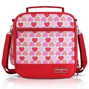 Lancheira Térmica Infantil P Jacki Design Coração Vermelho