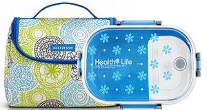 Bolsa De Mão Térmica Com Marmita azul Jacki Design