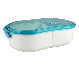 Marmita 3 compartimentos 1200 ml Jacki Design Azul