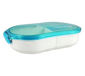 Marmita 3 compartimentos 750 ml Jacki Design Azul