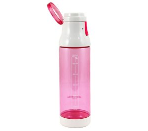 Garrafa com Alça superior e trava Pink 600ml Jacki Design