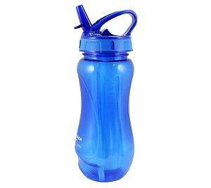 Squeeze com Canudo Retrátil Azul 500ml Jacki Design