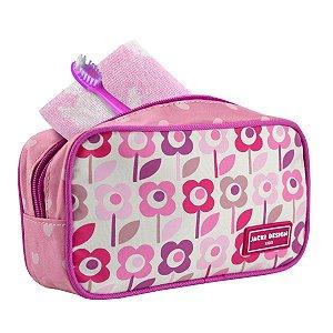 Necessaire Infantil Jacki Design Sapeka Flor Rosa