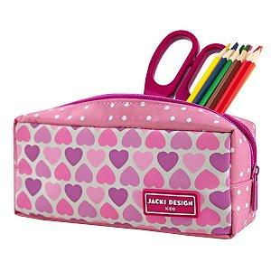 Estojo Necessaire Jacki Design Coração Rosa Sapeka